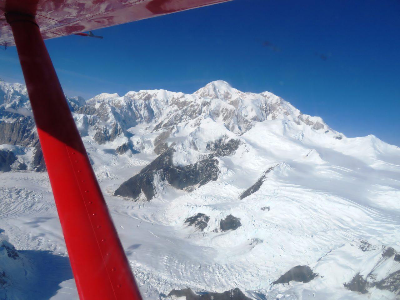 Flight around Mount Denali during our Alaska Cruise with Princess Cruises
