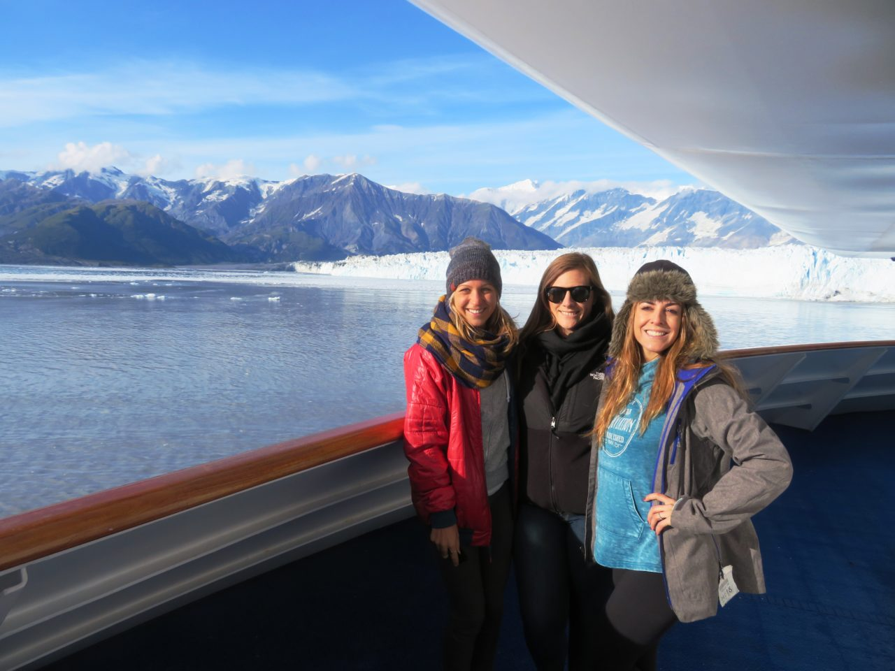 Three of our fellow travelers during our Alaska Cruise with Princess Cruises