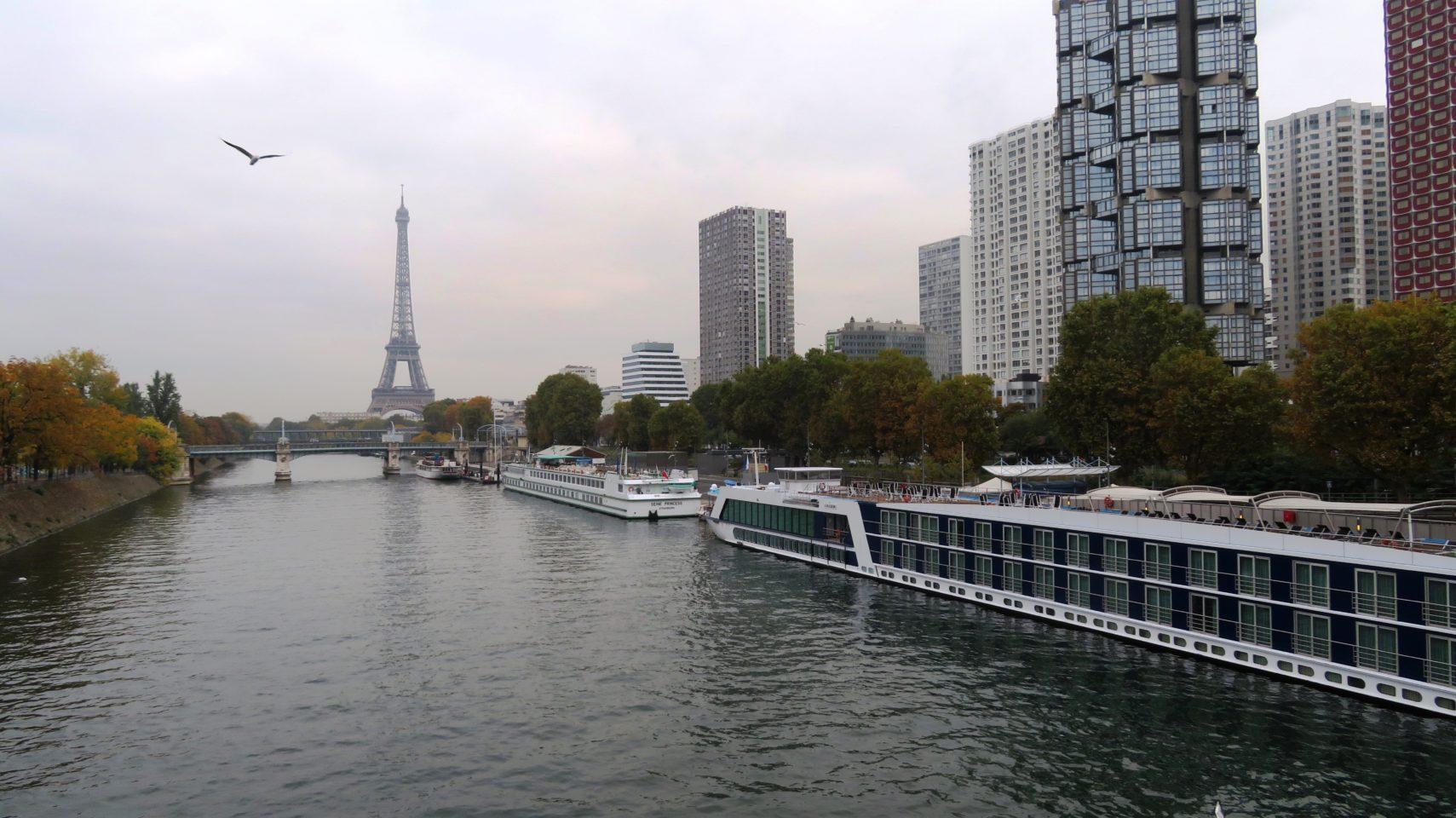 AmaLegro River Cruise Ship Docked in Paris, France ~ Paris and Normandie AMAWaterways Cruise