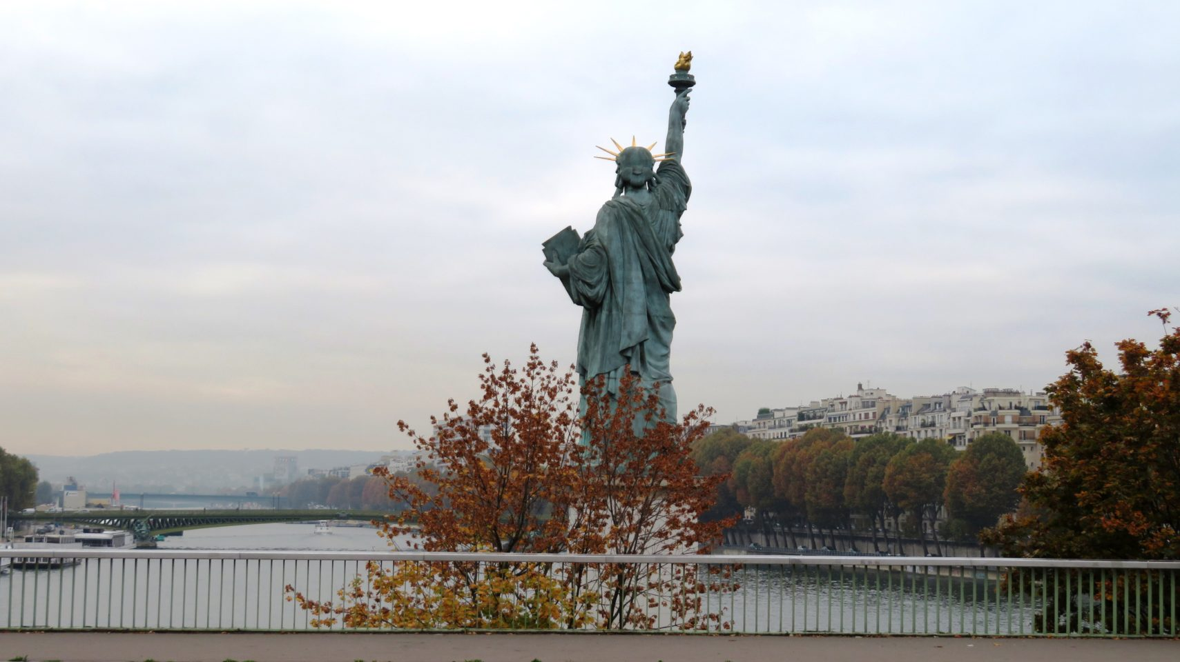The Statue of Liberty greets visitors to Paris, France (Paris and Normandie AMAWaterways Cruise)