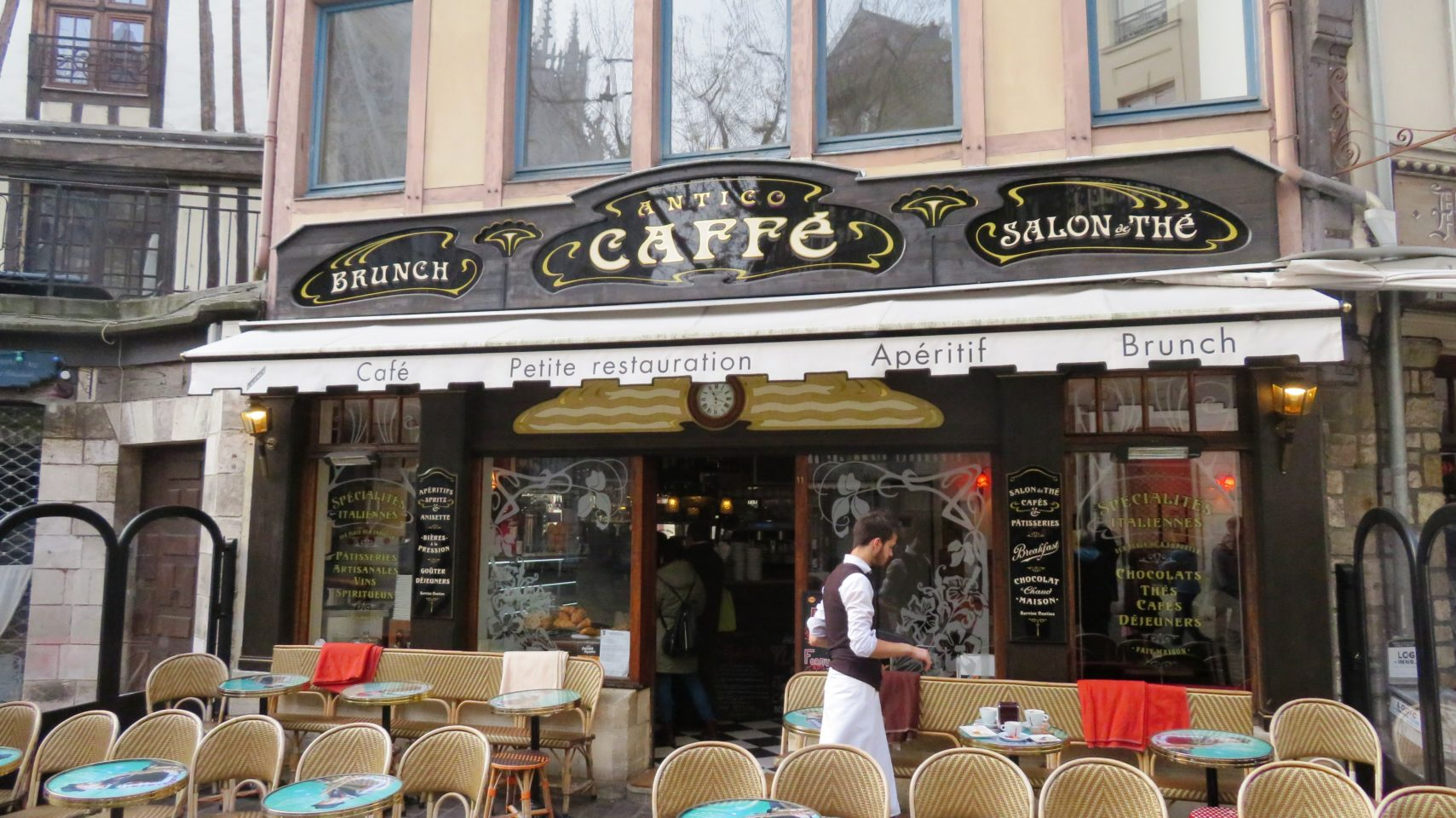 Antico Caffe in Rouen, Normandie, France (Paris and Normandie AMAWaterways Cruise)