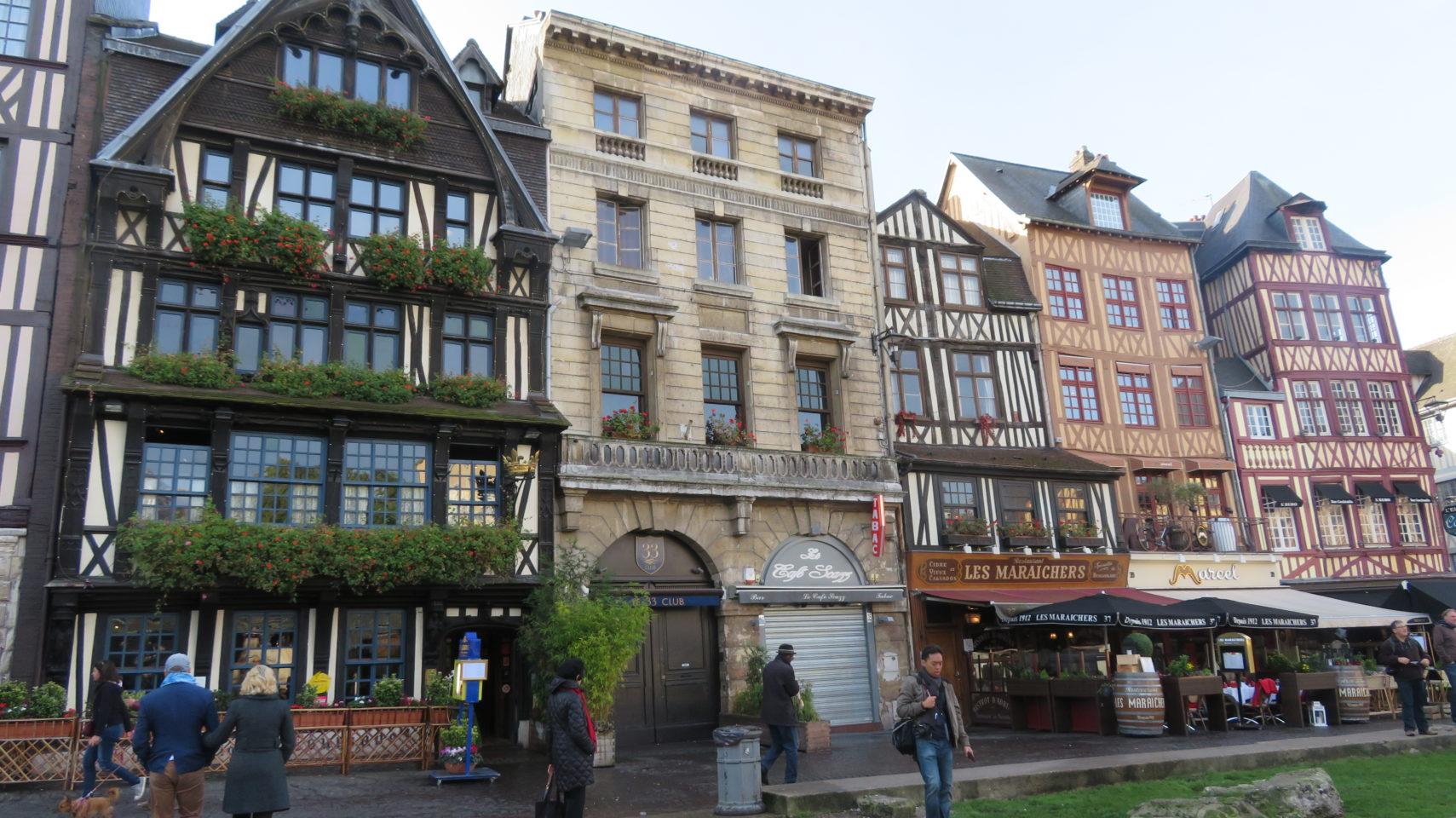 Place du Vieux Marche in Rouen, Normandie, France (Paris and Normandie AMAWaterways Cruise)