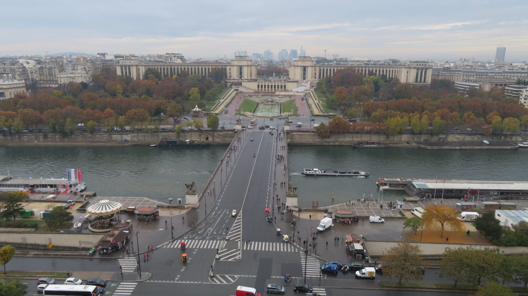 Trocadero and Paris viewed from the Eiffel Tower ( Paris and Normandie AMAWaterways Cruise)