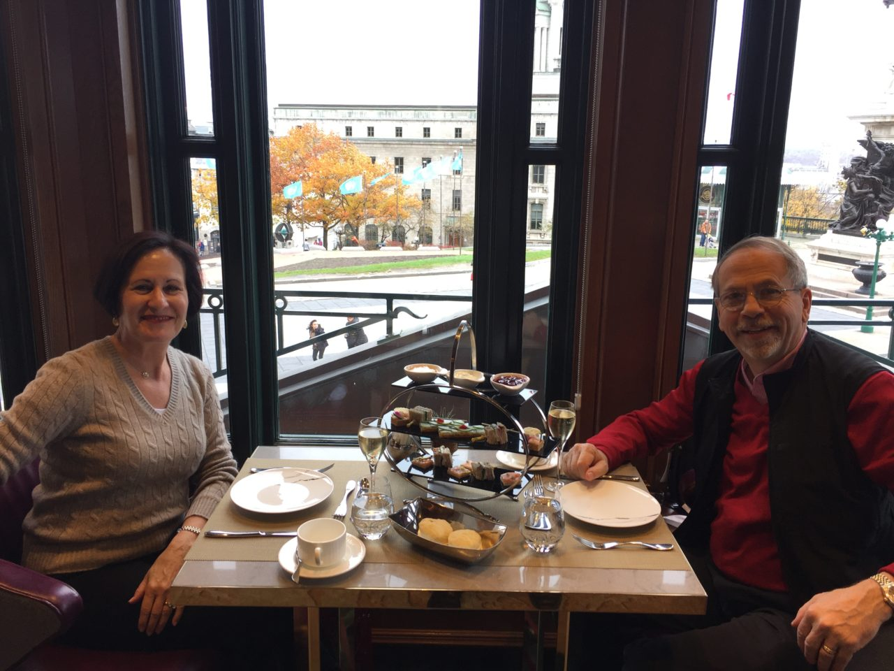 Afternoon Tea at the Champlain Restaurant of the Fairmont Le Chateau Frontenac