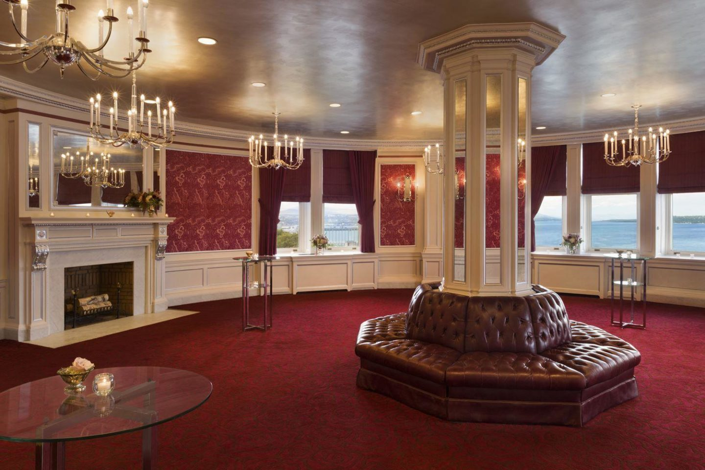Salon Rose of the Fairmont Le Chateau Frontenac in Quebec City, Quebec, Canada