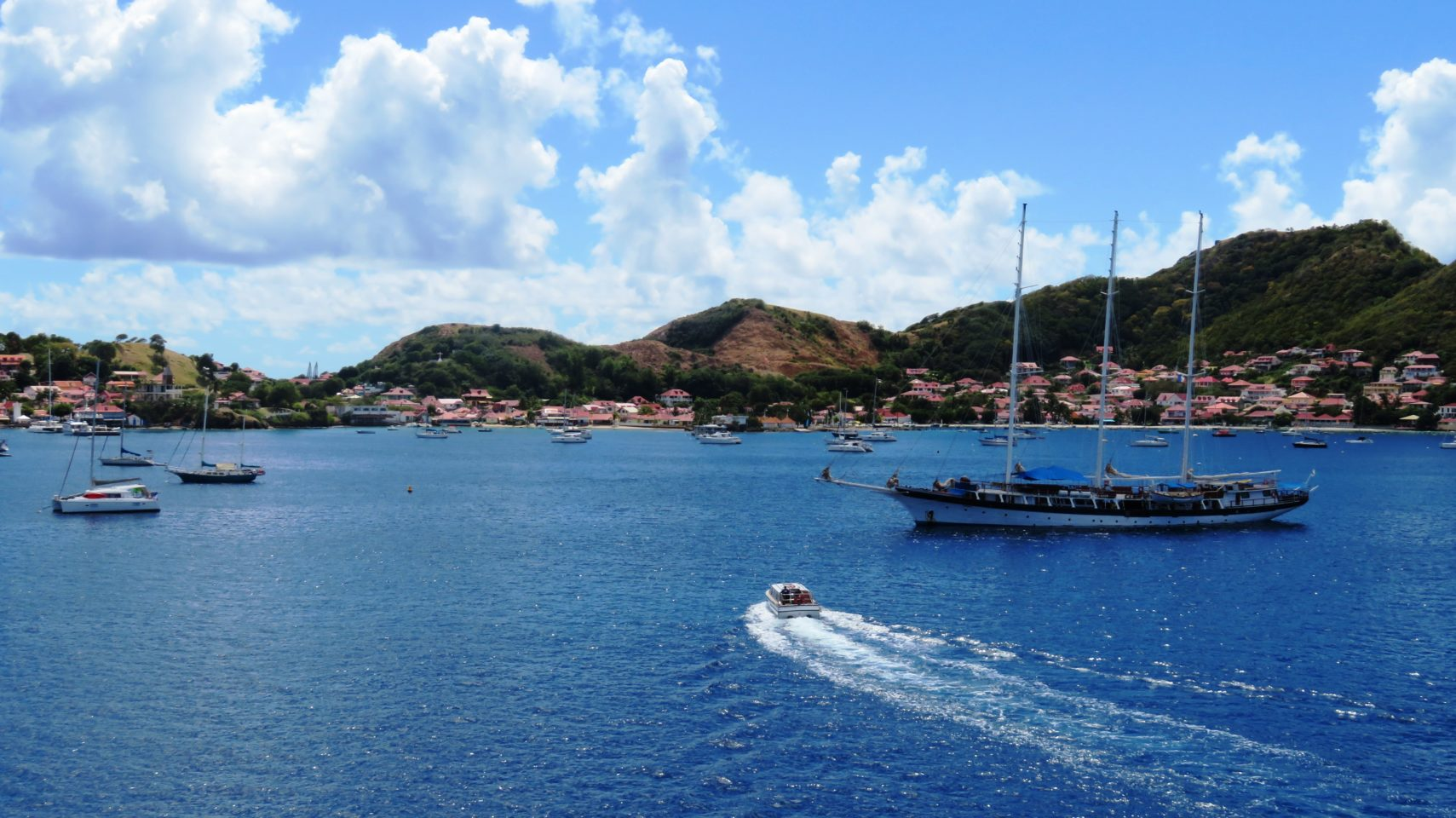 Windstar Cruises ~ a glorious view from our French balcony overlooking the renowned Baie des Saintes in Guadeloupe, French West Indies
