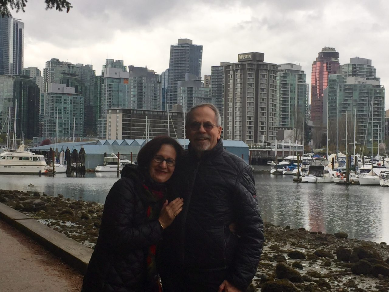 Denis and Lynn in Vancouver at the start of our journey with Rocky Mountaineer ~ The Trip of a Lifetime ...