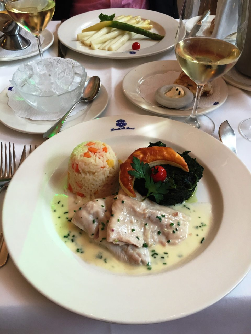 Exquisitely delicious lunch at the KunstHalle Restaurant in Basel, Switzerland