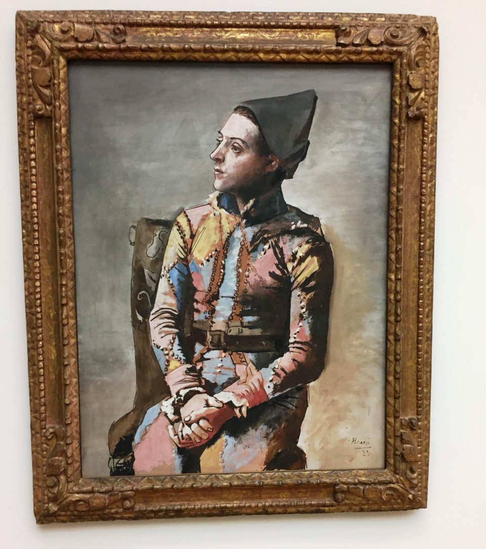 Seated Harlequin by Pablo Picasso at the KunstMuseum in Basel, Switzerland