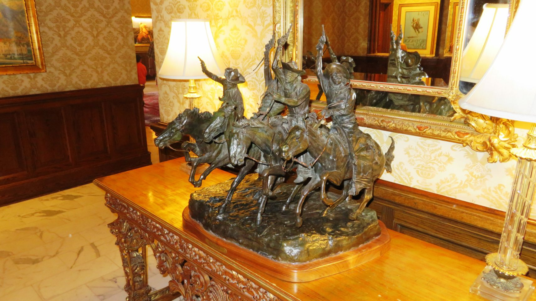 Coming Through the Rye by Frederic Remington in the lobby of The Broadmoor Resort & Spa