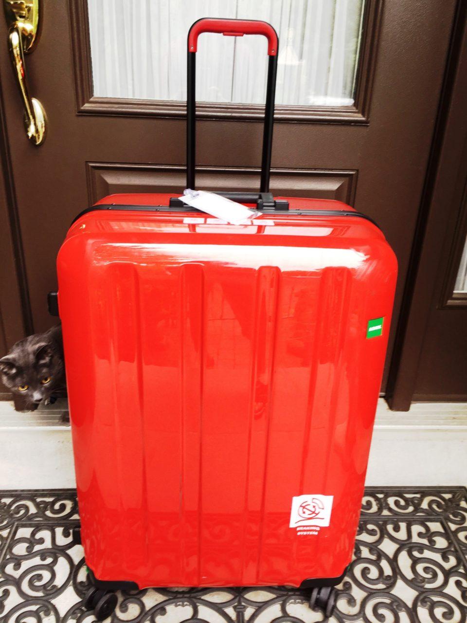 Lojel Luggage ~ My vibrant red Lojel Novigo suitcase