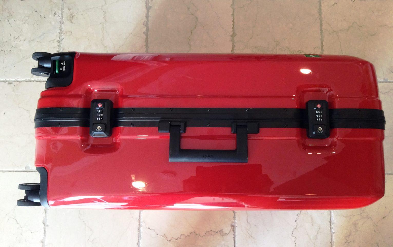 Lojel Luggage ~ Two TSA combination locks on the Novigo suitcase