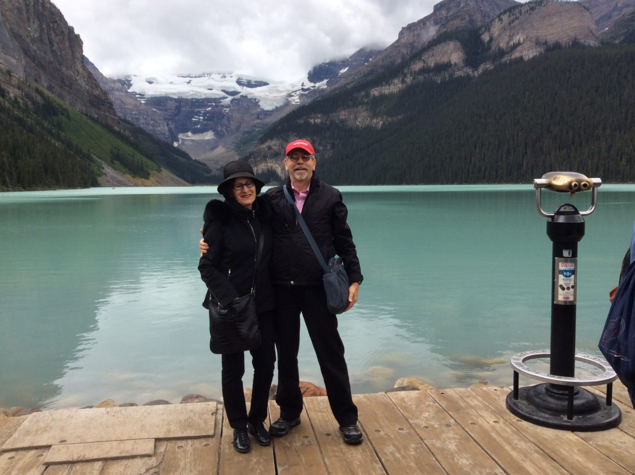 The Art of Travel Preparation ~ At Lake Louise in Canada during our Trip of a Lifetime with Rocky Mountaineer