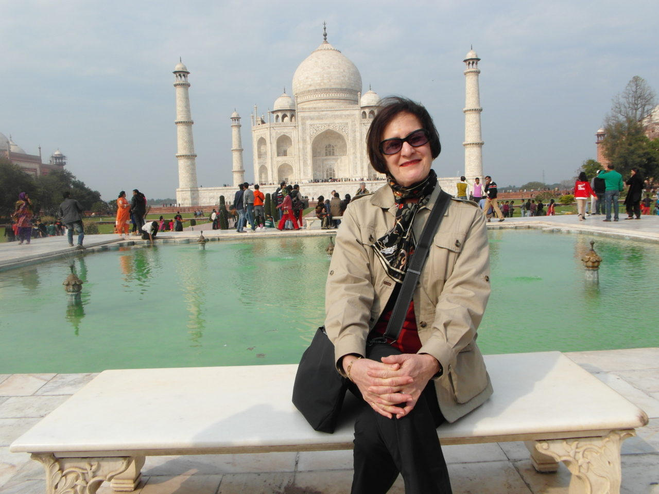Lynn at the Taj Mahal in Agra, India ~ The Art of Travel Preparation