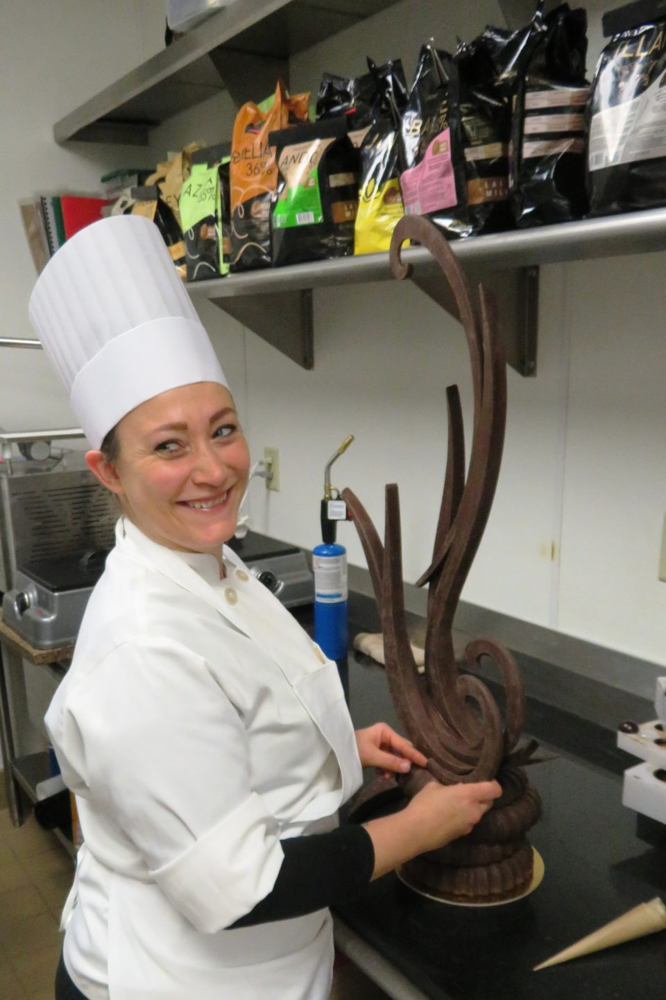 Culinary Excellence at <em><strong>The Broadmoor</strong> </em>~ Chef Amanda and the chocolate creation of the day !