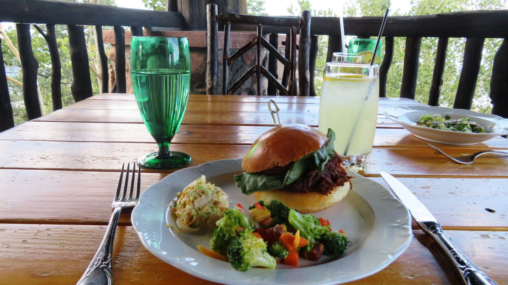 "Culinary Excellence at <em><strong>The Broadmoor</strong> </em>~ Fresh, healthy and oh so satisfying  buffet lunch at <em>Cloud Camp, </em>one of <strong><em>The Broadmoor</em></strong><em>'s </em>three spectacular ""Wilderness Experience"" camps"