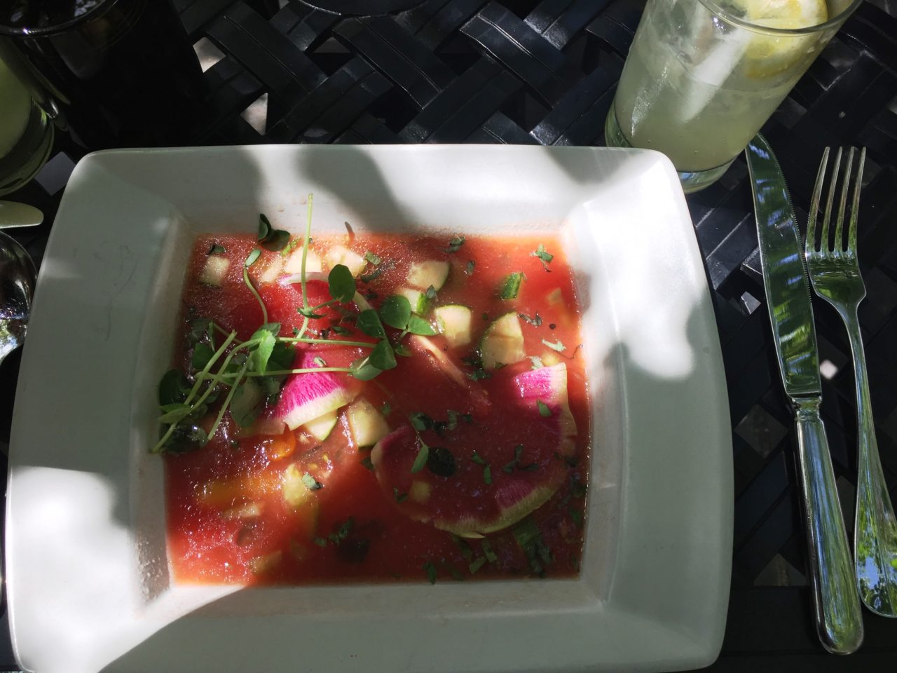 The Broadmoor Restaurants : Front Range Gazpacho at the Natural Epicurean