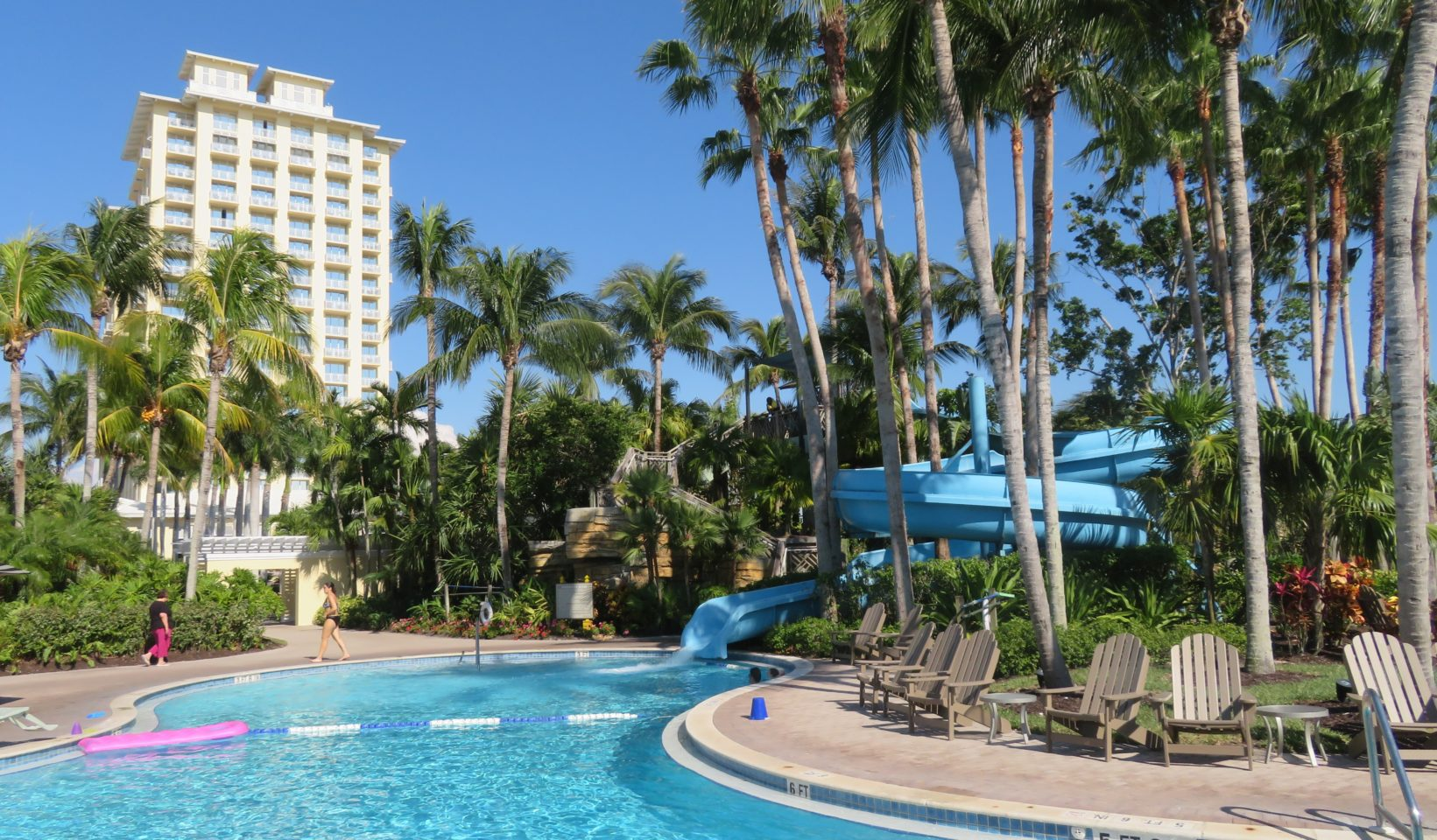 Five water slides and the largest poolscape in south Florida ~ Gem of a Florida Resort