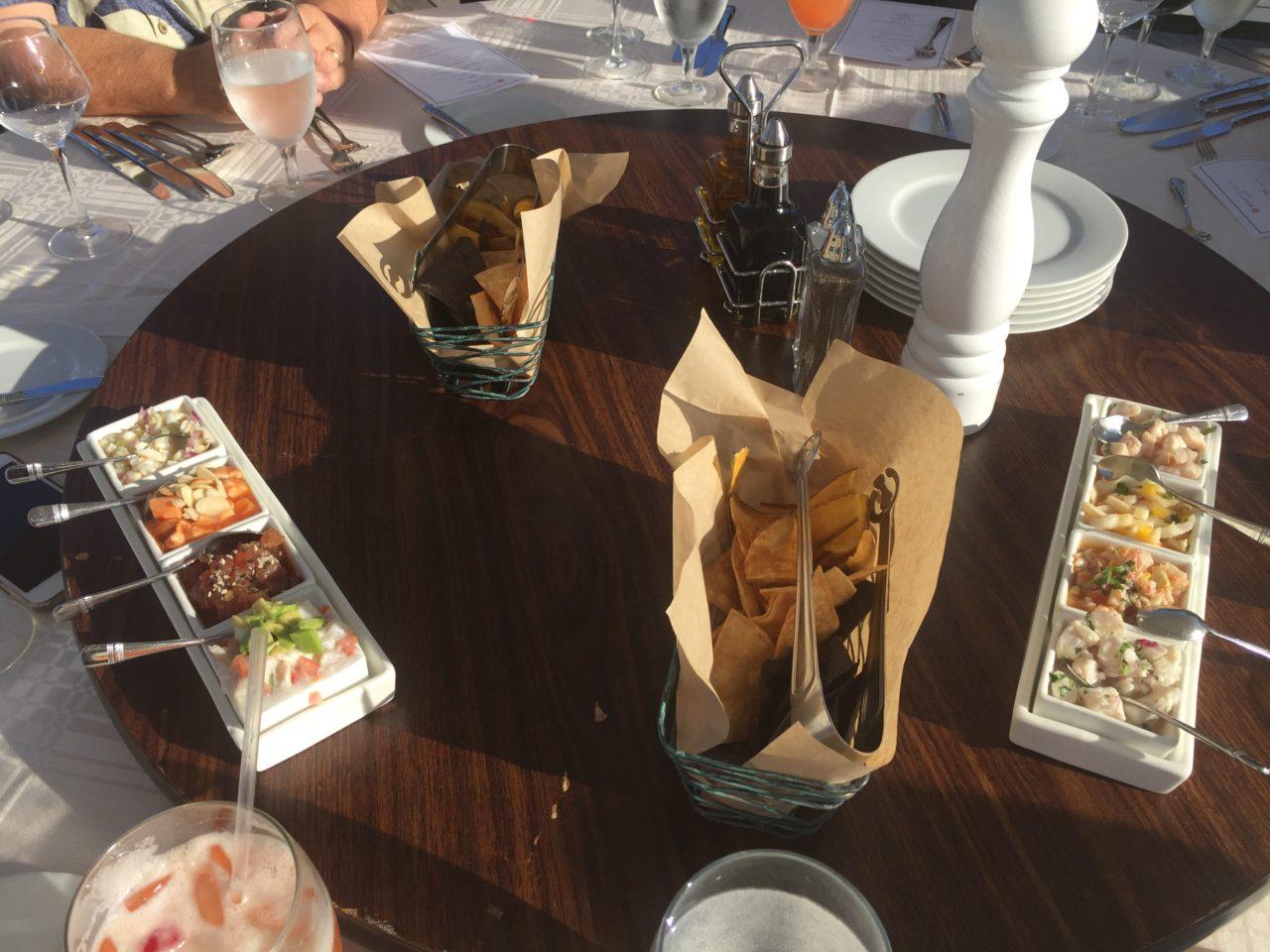 Ceviche sampling at the Hyatt Regency Coconut Point ~ Gem of a Florida Resort