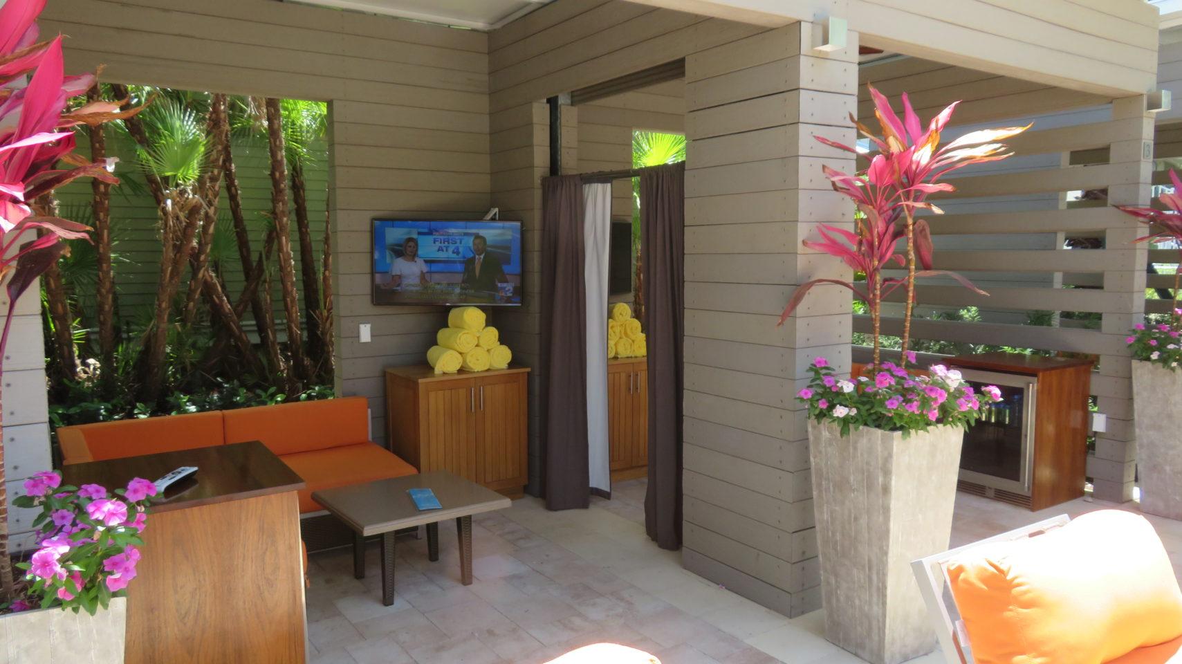 Pool-side cabana at the Hyatt Regency Coconut Point ~ Gem of a Florida Resort