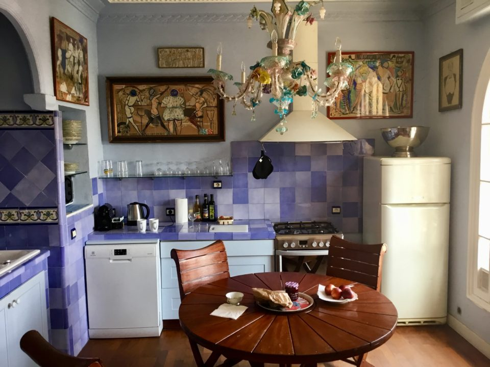 The provencal kitchen of #13 Cours Saleya vacation rental apartment ~ Our Love Affair with the city of Nice & the Côte D'Azur