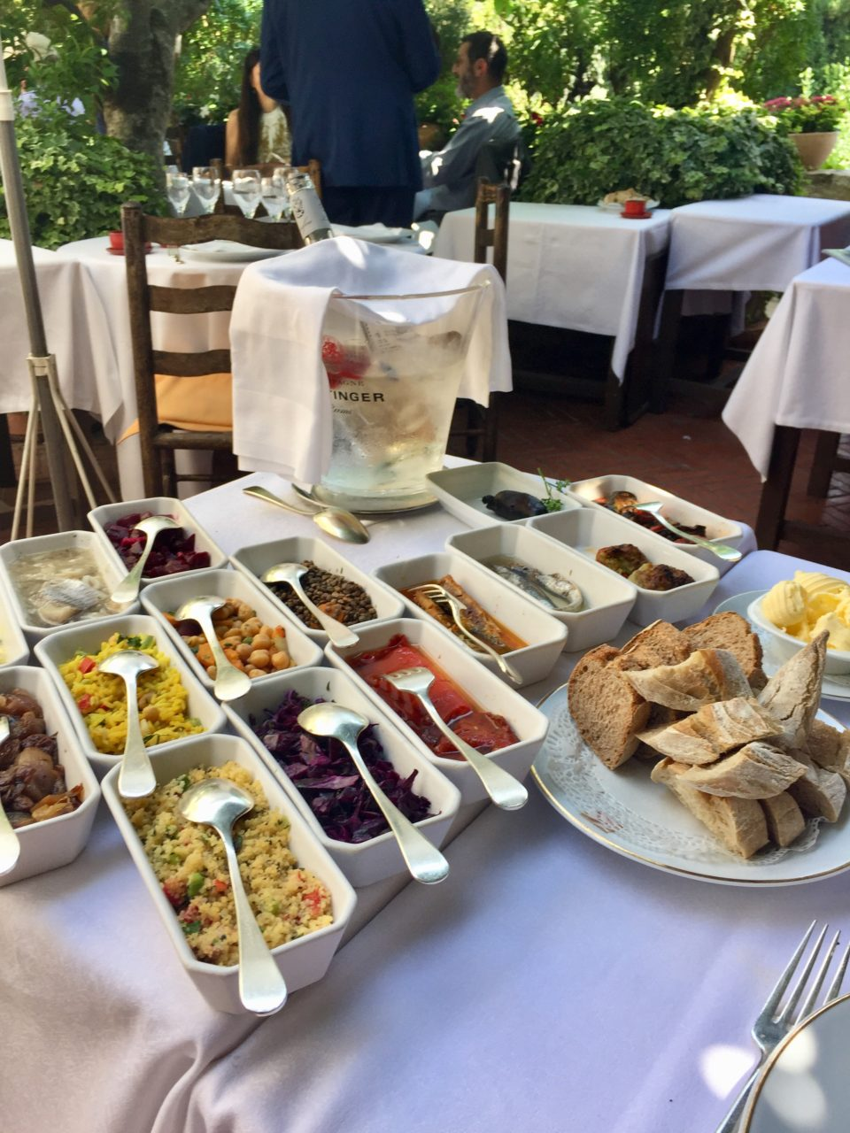 Hors d'oeuvres at La Colombe D'Or in Saint Paul de Vence near Nice ~ When in Nice, we live to eat !