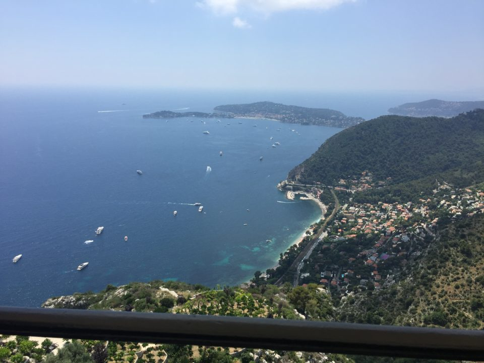 View over the French Riviera from the perched village of Eze ~ Our Love Affair with the city of Nice & the Côte D'Azur