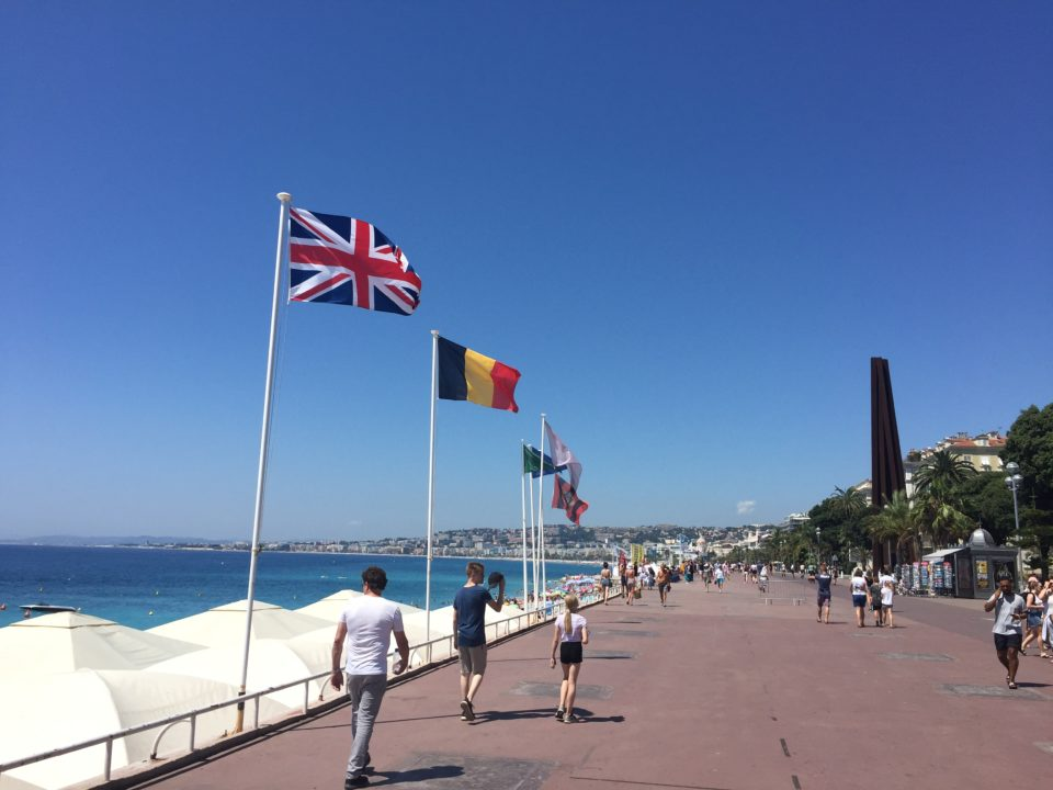 La Promenade des Anglais on the beachfront of Nice ~ Our Love Affair with the city of Nice & the Côte D'Azur