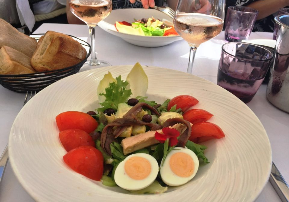 Salade Nicoise and Rose de Provence at Plage Beau Rivage ~ Our Love Affair with the city of Nice & the Côte D'Azur