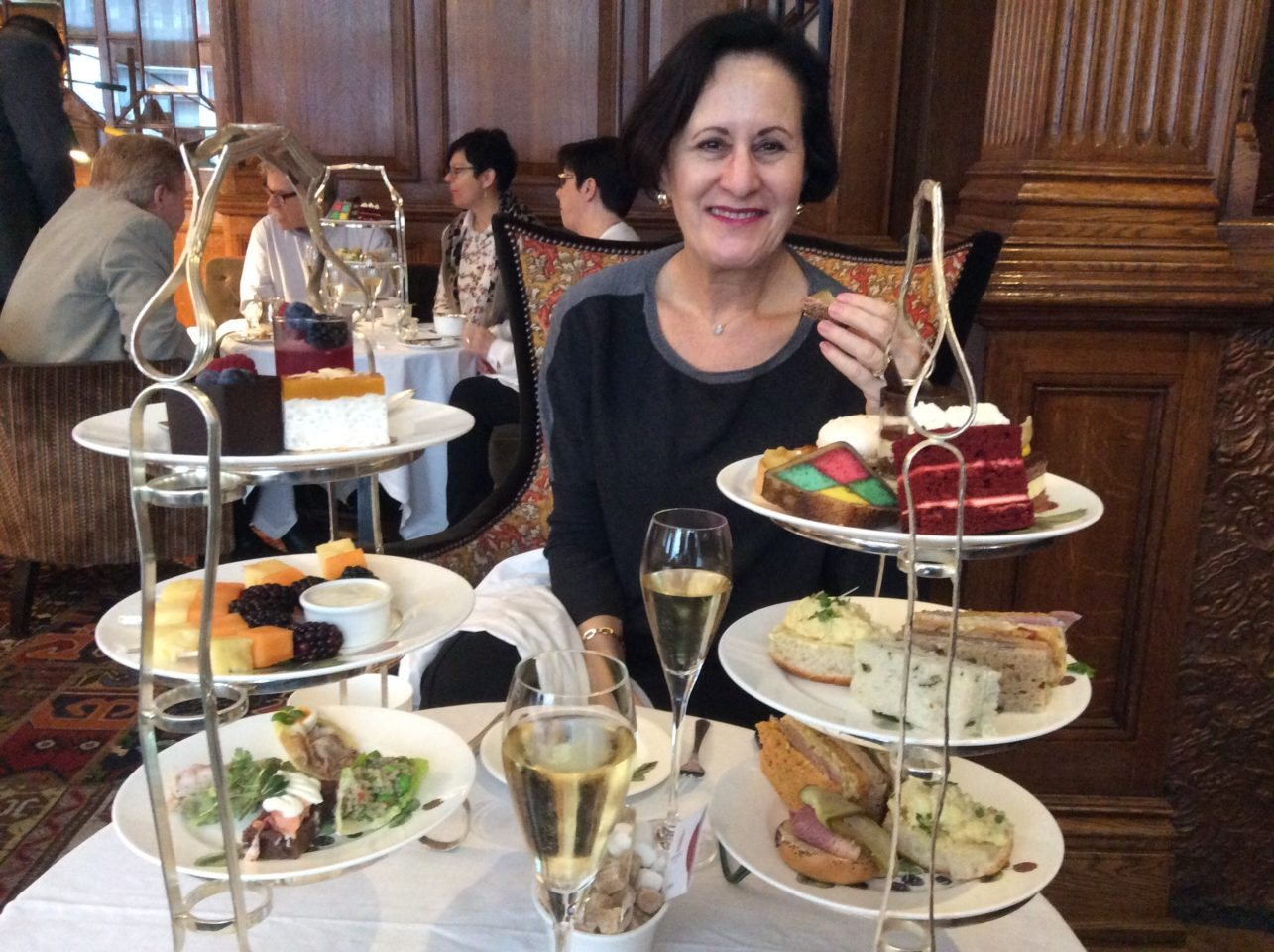 Afternoon Tea at The English Tea Room of Brown's Hotel in London