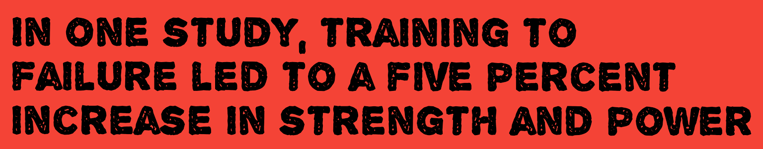 training to failure study results