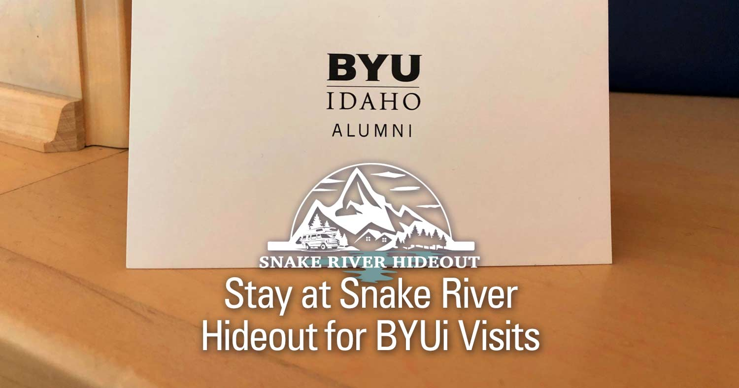 Visit Brigham Young University Idaho while at Snake River Hideout