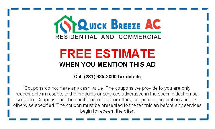 Free Estimates in Spring Texas for Air Conditioning and Heating Coupon and Discounts
