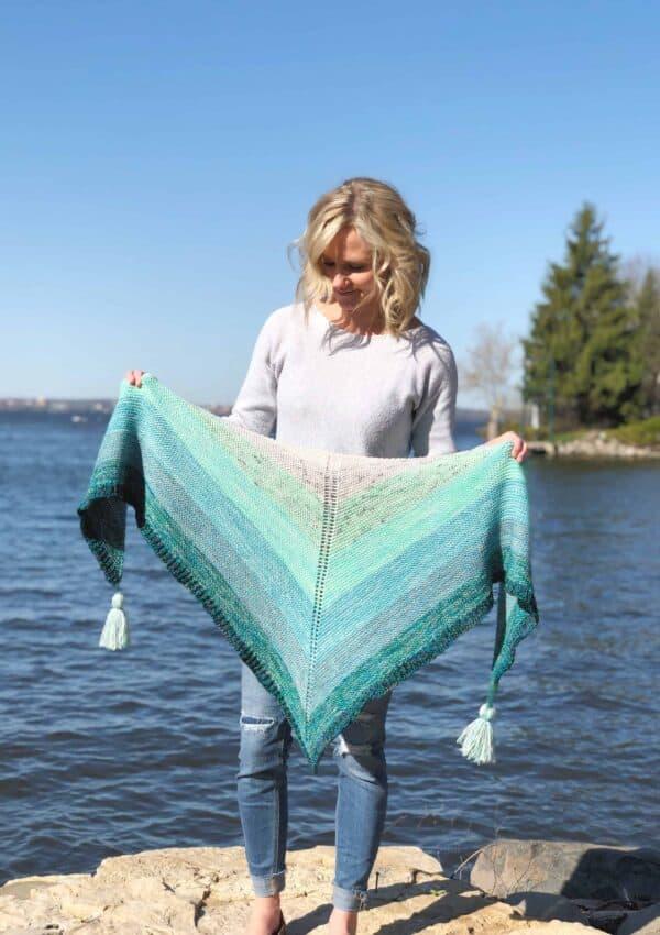 Melted Sea Shawl – Free Knitting Pattern