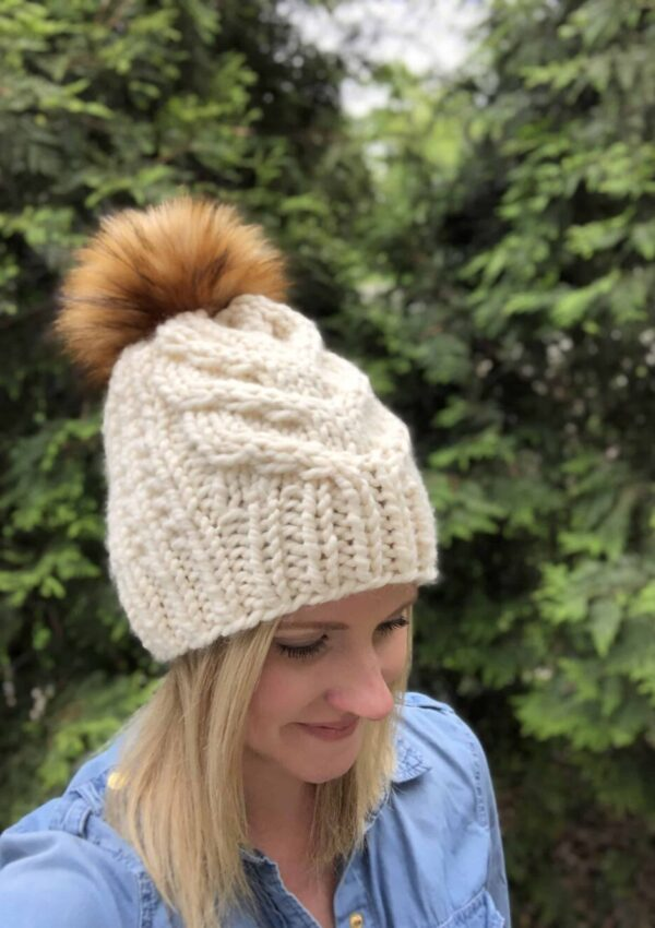 Char Char Hat-A Cable Hat Knitting Pattern