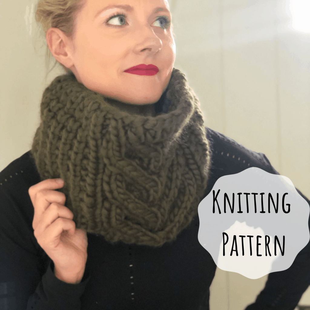 Super Bulky Cable Cowl Knitting Pattern. Knitting Pattern for We are Knitters The Wool.