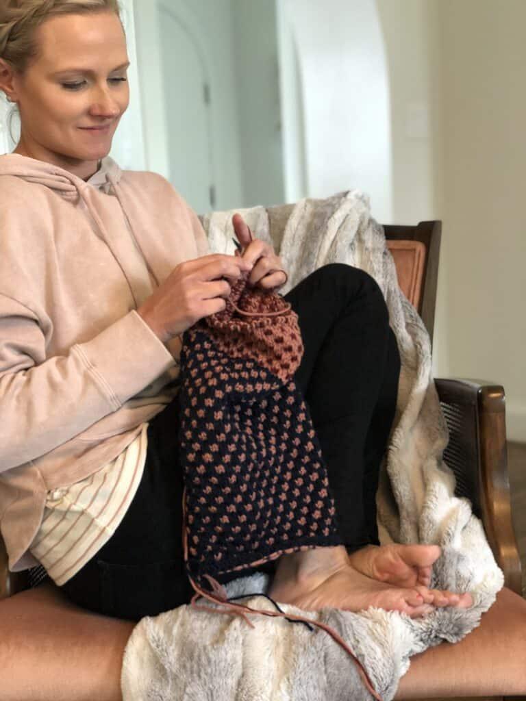 Mosaic knitting cowl pattern