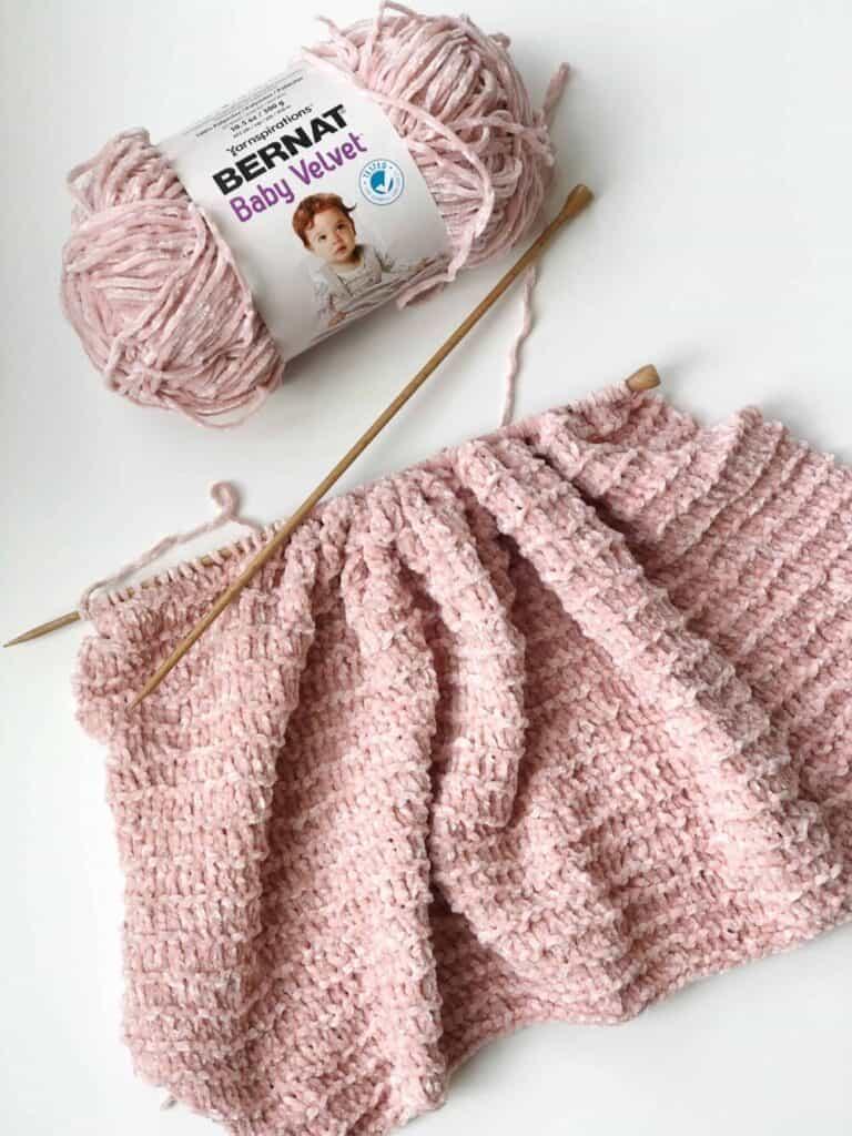 Knitting with velvet yarn. How to knit with velvet yarn