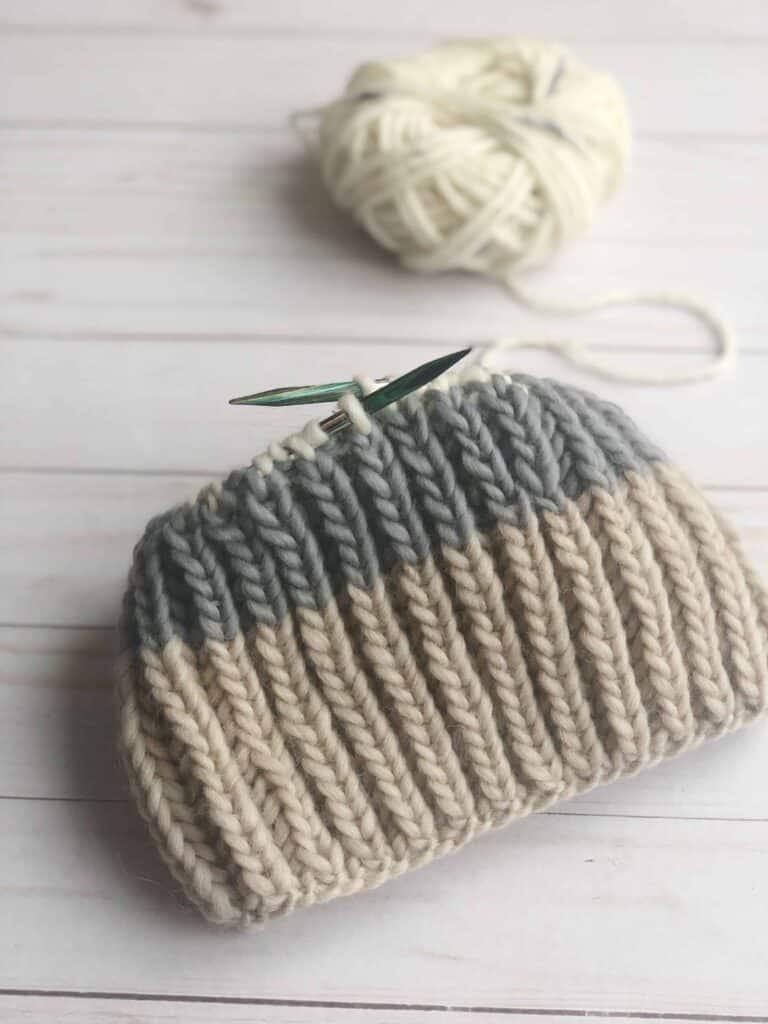 Faux Fishermans Rib Hat Knitting Pattern