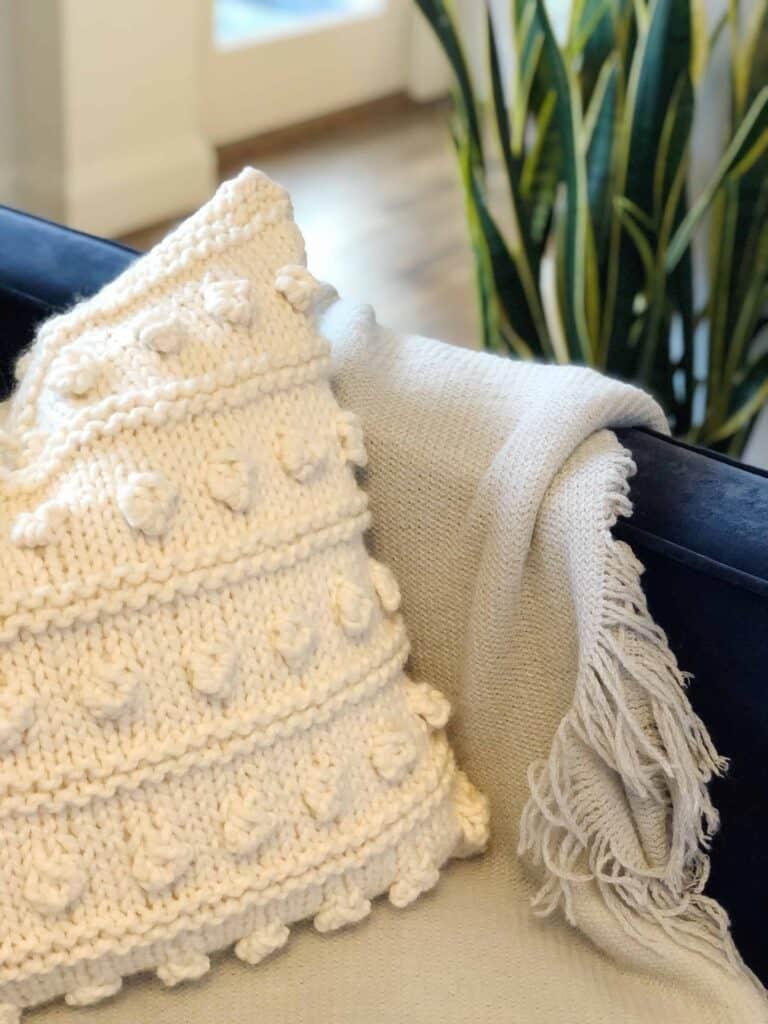 DIY Knit Pillow Pattern
