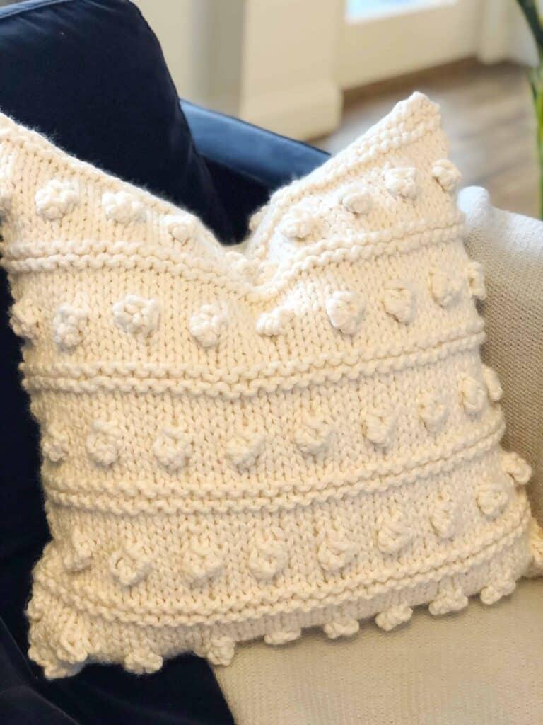 Bobble Pillow Knitting Pattern