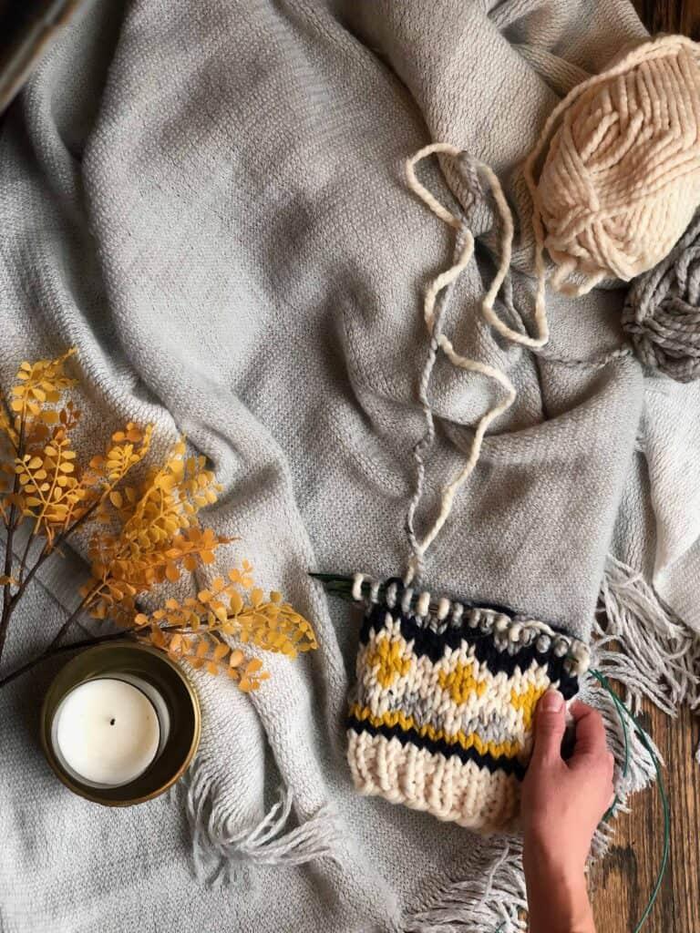 Fair Isle Hat Knitting Pattern