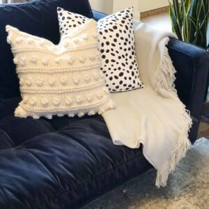 Chunky Bobble Pillow Free Knitting Pattern
