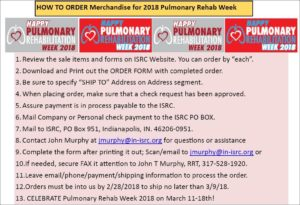 PR week order instructions - 2018