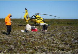 Field work on a palsa