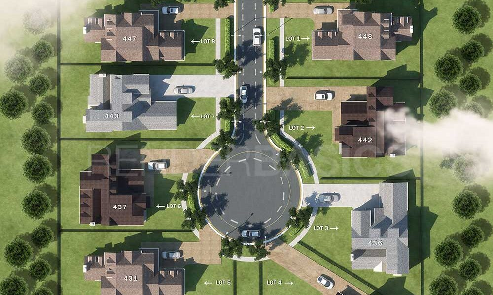 3D aerial view
