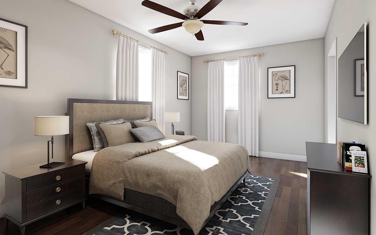 3D inteiror Bedroom Rendering