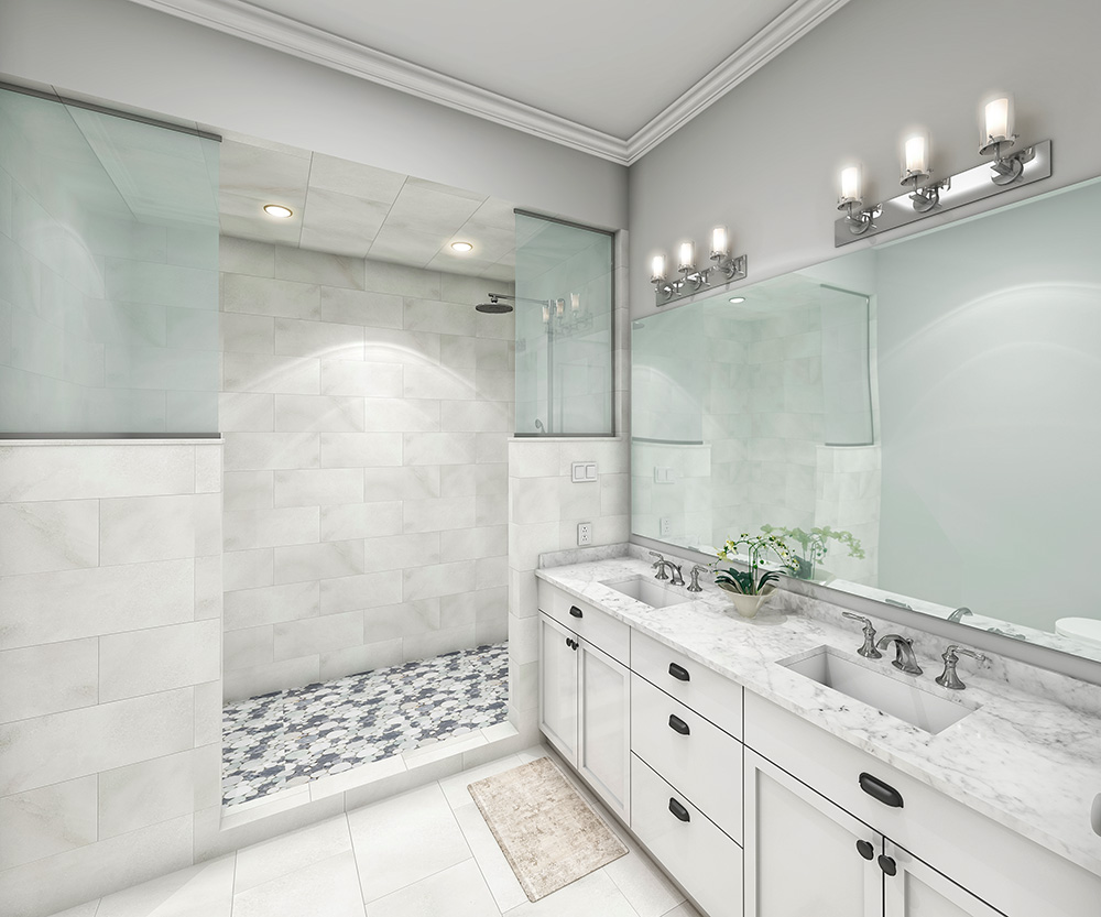 Master Bathroom Interior Rendering