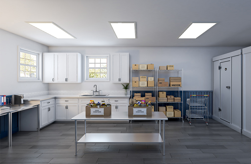 Food Pantry Kitchen Interior 3D Rendering