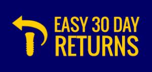 Easy 30 Day Returns